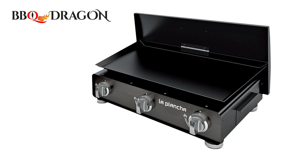 bbq dragon plancha gaz avec couvercle et 3. Black Bedroom Furniture Sets. Home Design Ideas