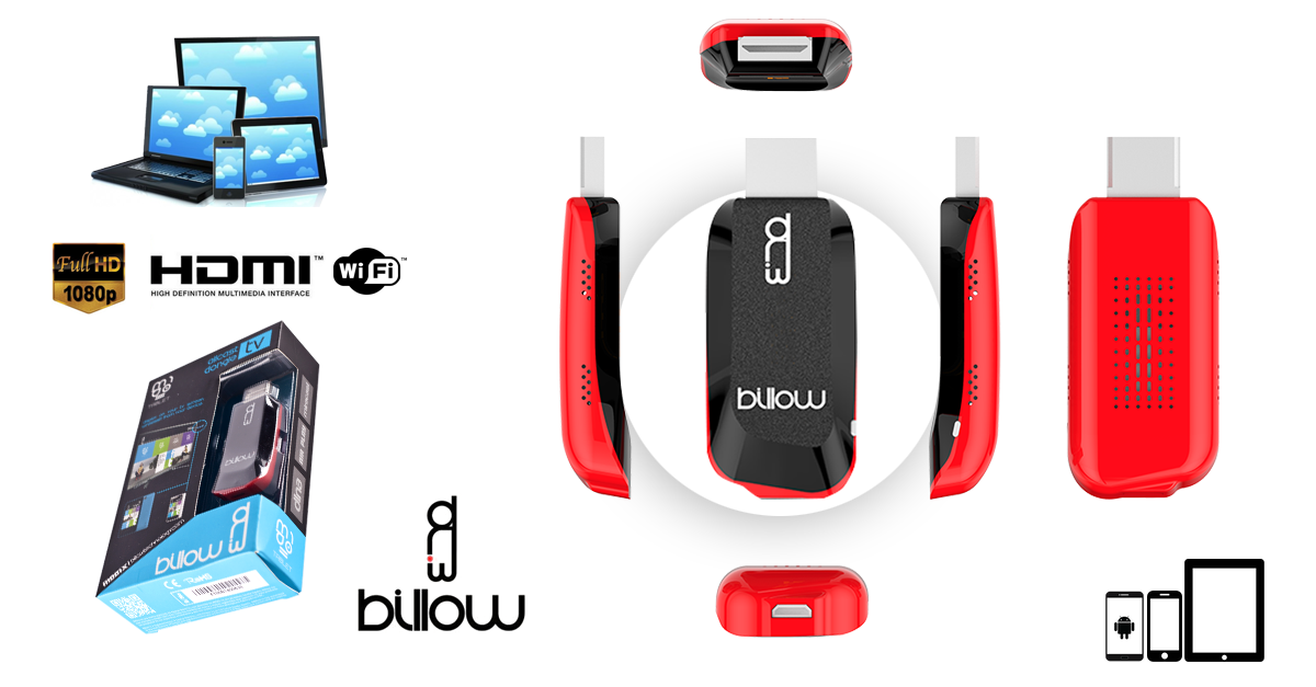 Billow dongle hdmi md01x dlna miracast air play for Application miroir ordinateur