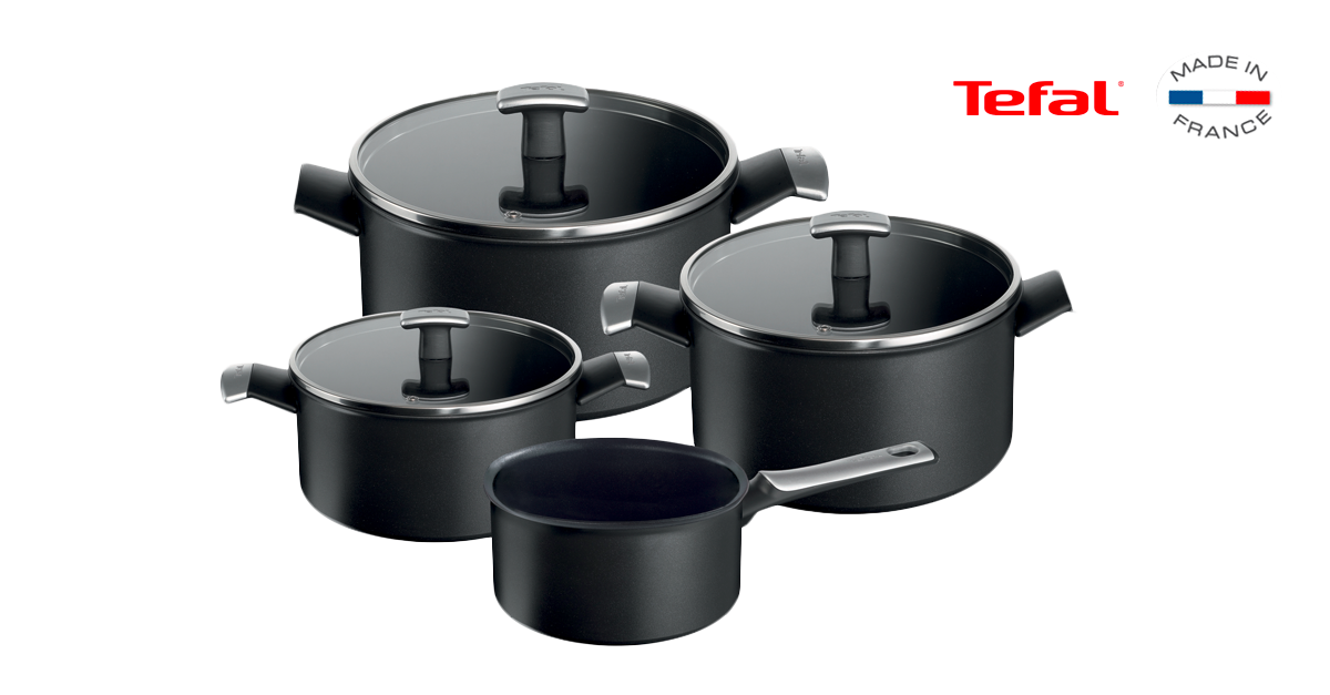 tefal lot de casseroles et faitouts 7 pi ces. Black Bedroom Furniture Sets. Home Design Ideas
