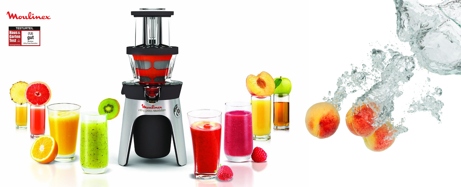 Moulinex Slow Juicer Infiny Press Revolution : Qooking.ch Moulinex Slow-juicer Infiny Press Revolution