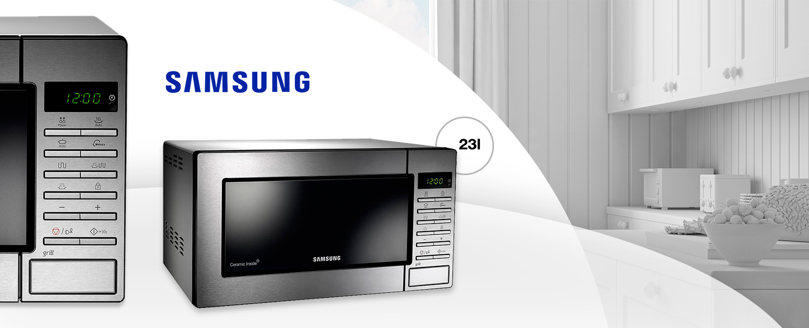samsung ge87mc sws micro ondes avec gril 23 litres. Black Bedroom Furniture Sets. Home Design Ideas