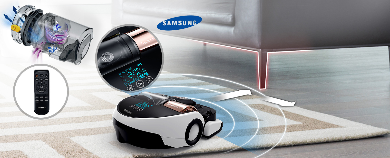 samsung powerbot vr20h9050 staubsauger roboter. Black Bedroom Furniture Sets. Home Design Ideas