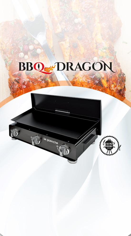 bbq dragon plancha gaz avec couvercle et 3 br leurs. Black Bedroom Furniture Sets. Home Design Ideas