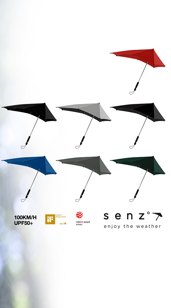 senz umbrellas ergonomischer regenschirm xl. Black Bedroom Furniture Sets. Home Design Ideas