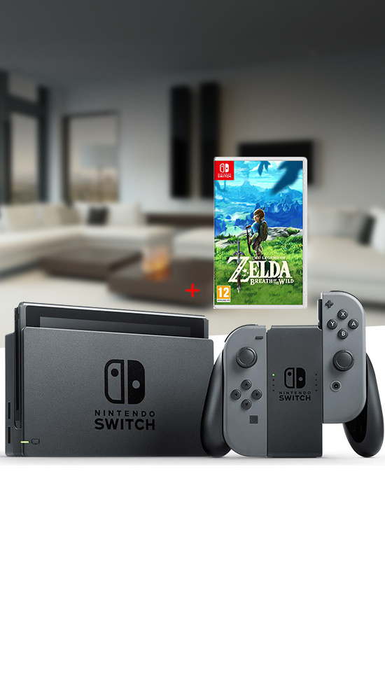 nintendo switch pack console de jeu zelda. Black Bedroom Furniture Sets. Home Design Ideas
