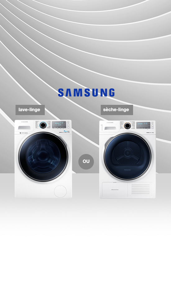 samsung lave linge ou s che linge. Black Bedroom Furniture Sets. Home Design Ideas