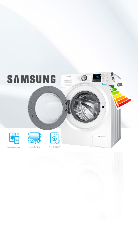 samsung wf12f9e6p4w lave linge 12kg eco bubble. Black Bedroom Furniture Sets. Home Design Ideas
